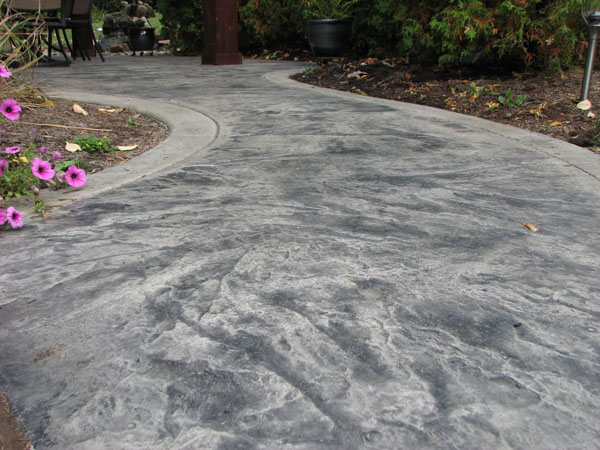 Decorative Granite Stamped Patio Raised Concrete
