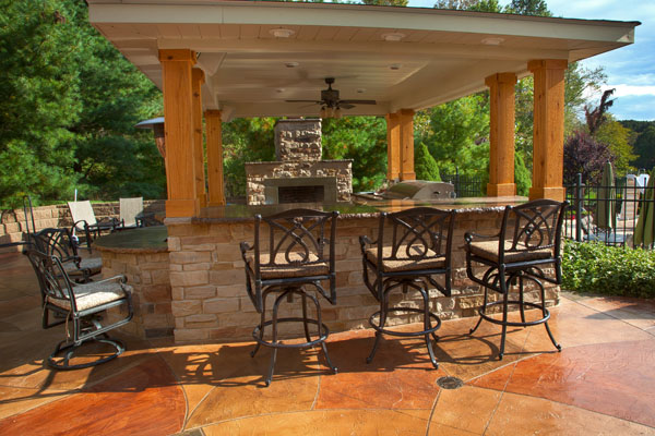 Outdoor roof plain design outdoor kitchen roof outdoor for Outdoor kitchen roof structures