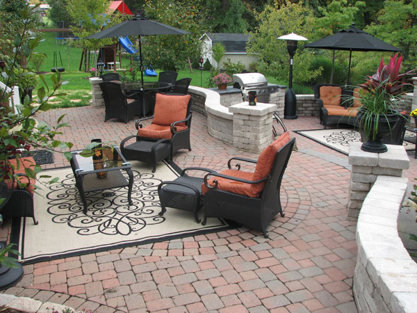 Two Tiered Patio