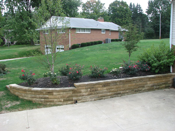 Residential landscaping rock hill sc retaining wall