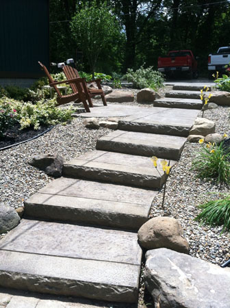 Rock Face Concrete Steps