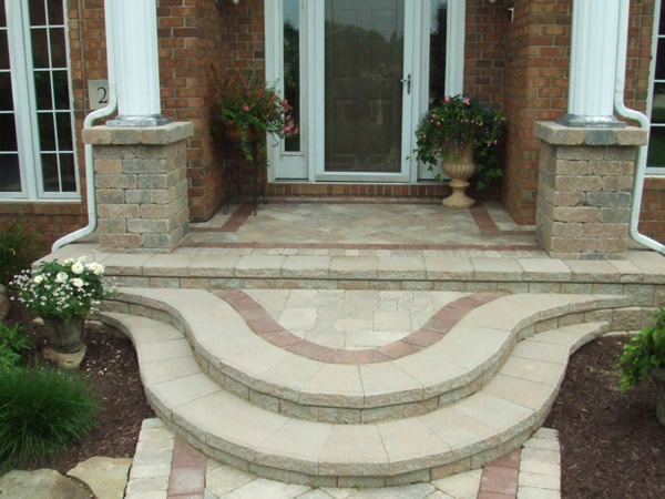 Klein 39 s lawn landscaping hardscapes steps - Home entrance stairs design ...