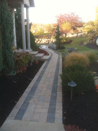 Paver Walkway with Black Border
