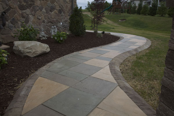 Techo-Bloc Walkway and Curbing