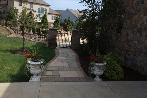 Walkway from Driveway to Pool Gate