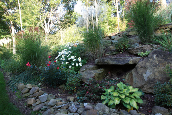 Klein 39 s lawn landscaping landscapes designed landscapes - Landscaping with large rocks ...