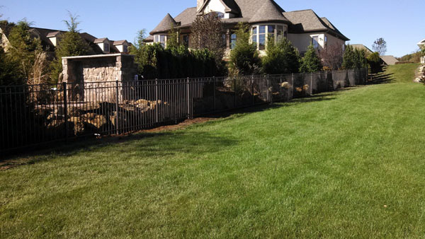 Privacy Landscape Mound Along Fencing