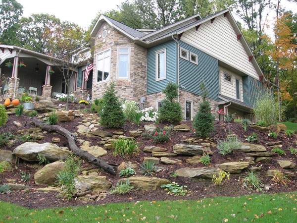 Idea lanscaping backyard landscaping ideas basketball court - Ideas for hillside landscape ...