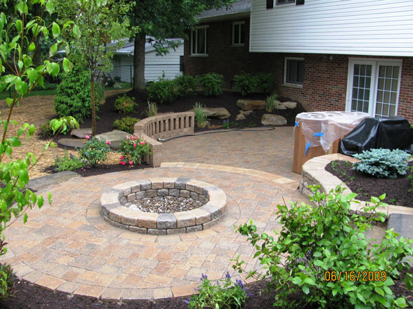 Backyard Patio klein's lawn & landscaping | solution center | before & after
