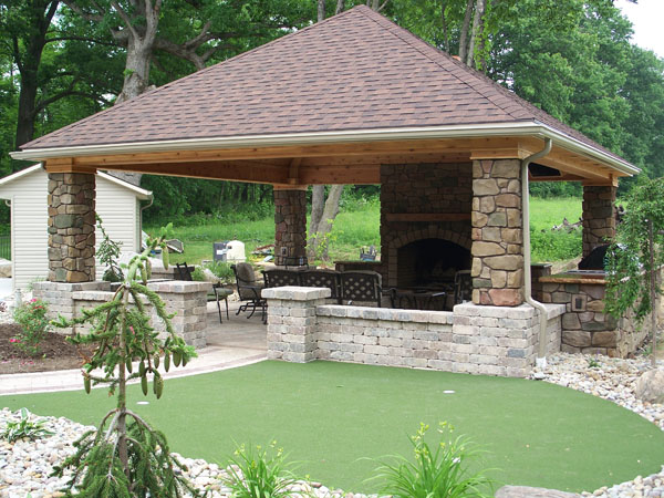 B t klein s landscaping solution center before after for Outdoor rooms photos