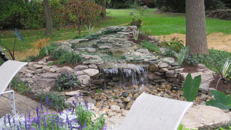 Klein 39 S Lawn Landscaping Solution Center Before After Pondless Water Feature Project