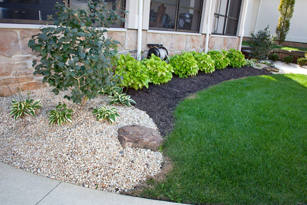 B t klein s landscaping solution center featured for Gravel and grass garden designs