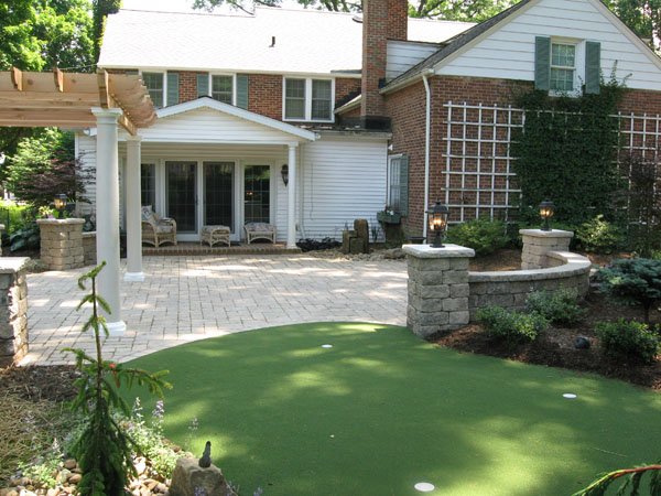 Putting Green Off Stone Hedge Patio