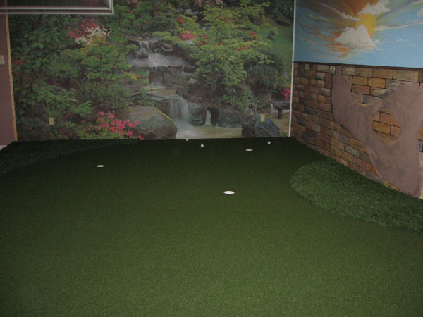 Putting Green With Mural
