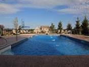 Decorative Pool Deck with Louge Area