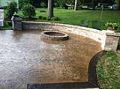 Old Granite Seamless Stamped Patio with Border