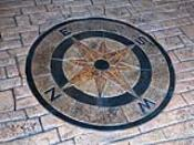 Monumental Concrete Compass Rose Inlay