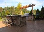 Outdoor Grilling and Bar Area