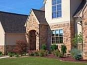 Designed Landscaping Around New Construction Home
