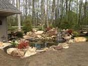 Maintained Waterfalls and Pond Clean Up