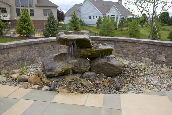 Rock Fountain Inlay with Seatwall