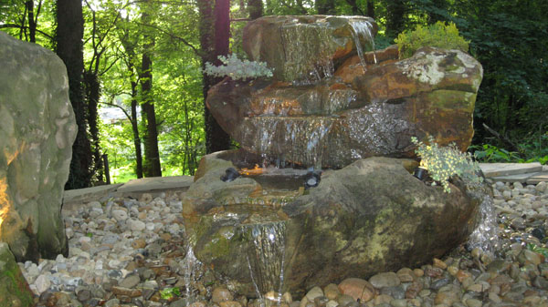Kleinu0027s Lawn U0026 Landscaping | Water Features | Hand Carved Natural Stone  Fountains