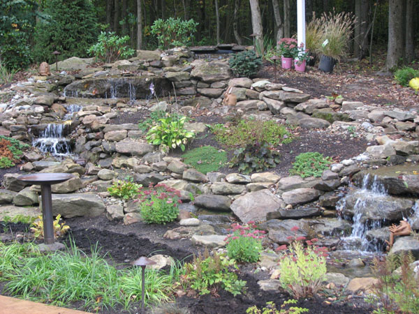 Tiered landscaping pictures garden inspiration for Tiered pond waterfall