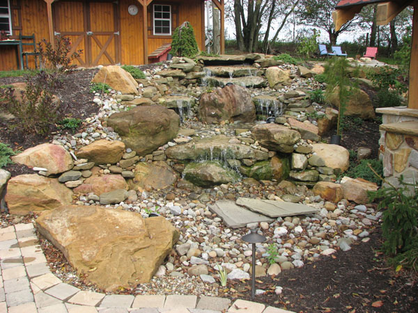 B T Klein S Landscaping Water Features Pondless Waterfalls