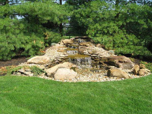 Klein's Lawn & Landscaping | Water Features | Pondless Waterfalls